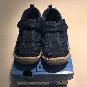Stride Rite Sawyer Navy Sandals